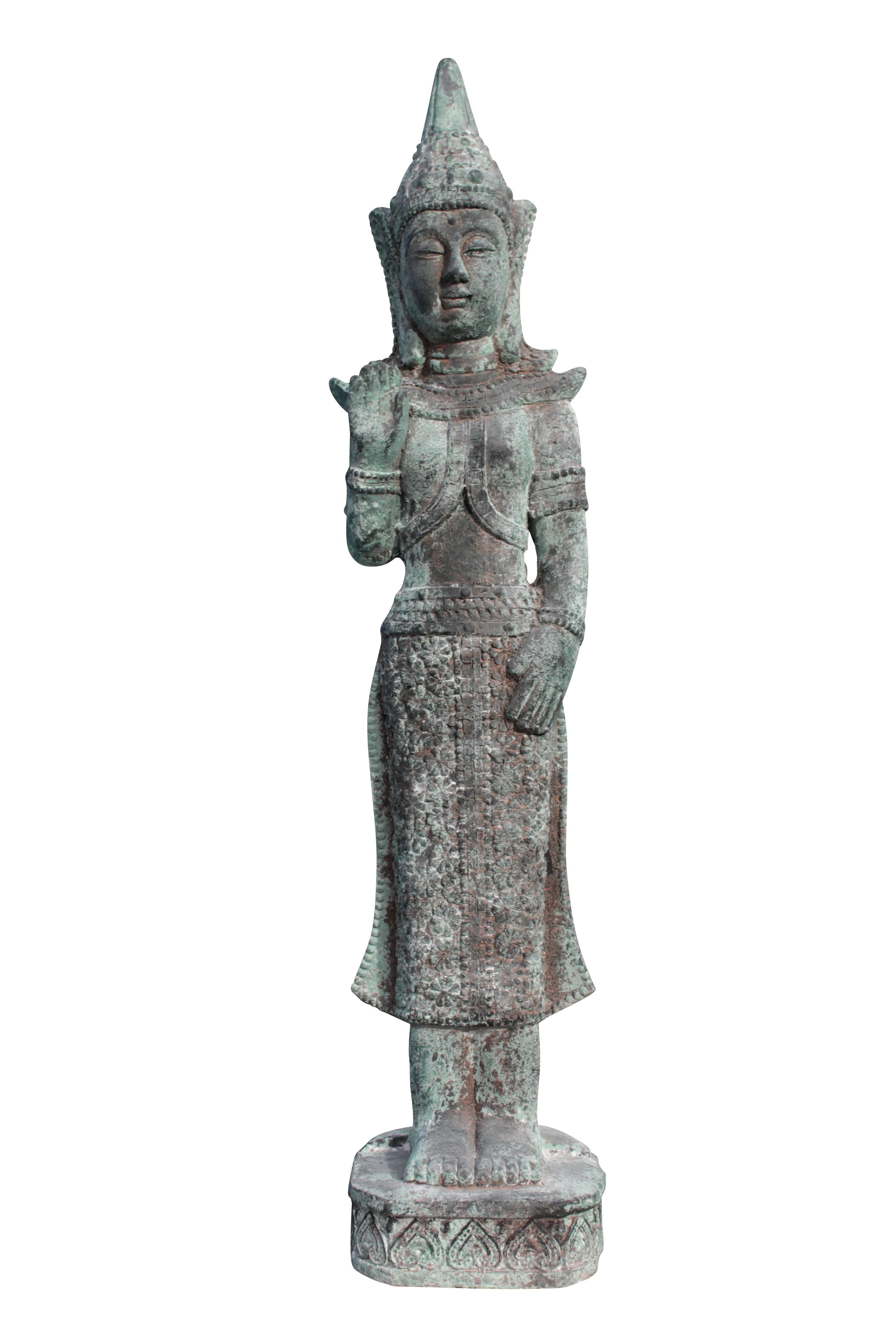 XL Buddha Figur 103cm thaibuddha buddafigur feng shui budda Dekoration innen/außen