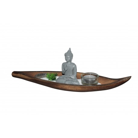 Kerzen Set Zen 6tlg. Teelichthalter Kerzenhalter Kerzenständer Buddha Feng Shui