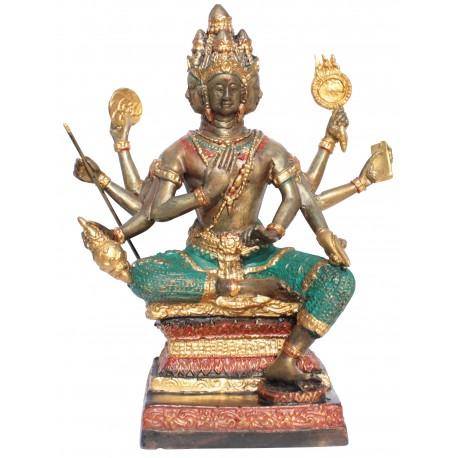 Brahma Gott der Schöpfung Bronze-Statue 19cm Buddha Buddhismus Hinduismus budda Ganesha Thailand