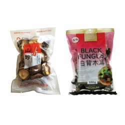 Pilze Mix 1x Shiitake + 1x Mu Err po ku poku schwarze pilze asiatische morcheln