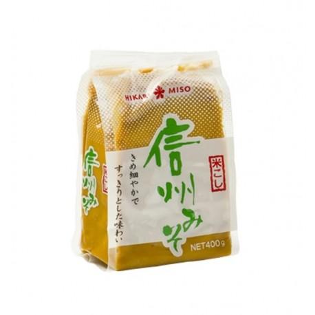 Miso Shinshu Shiro Paste 400g fermentierte Sojabohnenpaste weiße Misopaste aus Japan