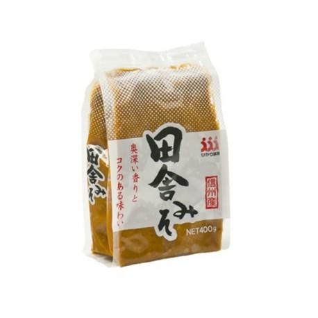 Miso Inaka Paste 400g fermentierte Sojabohnenpaste Rote Misopaste aus Japan