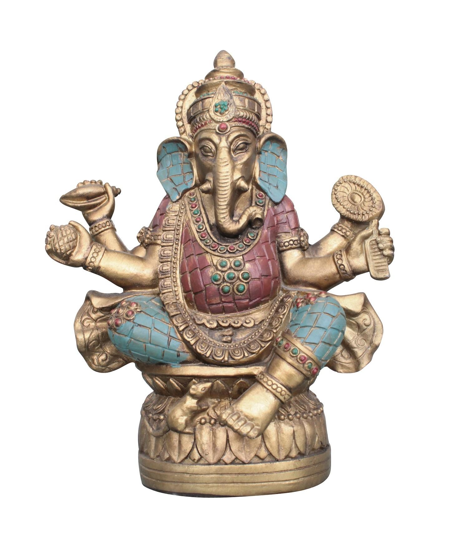 Ganesha Statue 18cm Hinduismus indien buddhismus ganescha Figur buddha budda