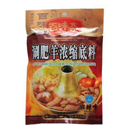 Hot Pot Sauce Paste 200g Würzsauce Feuertopf für Chinesisches Fondue mit Schafsfleisch