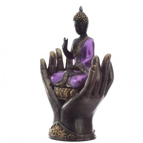 Thai Buddha Figur Vitarka Mudra Rad d. Lehre thaibudda fengshui budda Hand 27cm