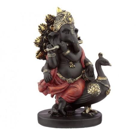 Ganesha mit Pfau Hinduismus Buddha Indien buddhismus ganescha Figur 21cm Feng Shui