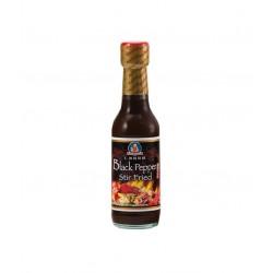 Schwarzer Pfeffer Sauce 250ml Black Pepper Sauce Stir Fried Woksauce mit 50% Pfefferanteil scharf