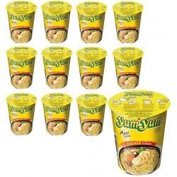 12 YumYum Suppen Hähnchen Becher a 70g instant Nudelsuppe Chicken Yum Huhn