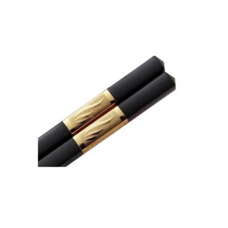 1 Paar Schwarze Essstäbchen Silber oder Gold chopsticks Esstäbchen 2 Stück