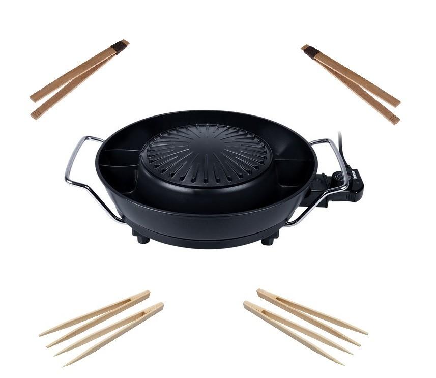 Korea Grill mit Zubehör 1800W multifunktionales koreanisches Grill-Set Hot Pot Feuertopf Tischgrill Tristar