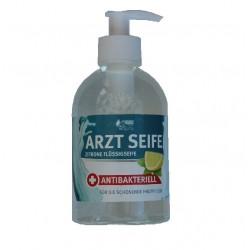 Arztseife 300ml Zitronen Flüssigseife Spenderflasche rückfettend für häufiges Waschen