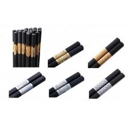 1 Paar Schwarze Metall Essstäbchen Silber oder Gold chopsticks Esstäbchen 2Stück