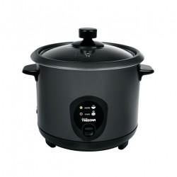 autom. Reiskocher bis 6 Pers. Black-Edition Dampfgarer Dampfkocher 1,5L +Zubehör