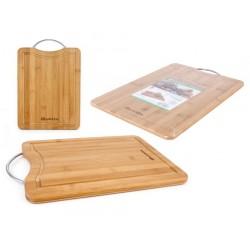 Schneidebrett Bambus Küchenbrett 27x20x1,5cm Frühstückbrettchen echt Holzbrett