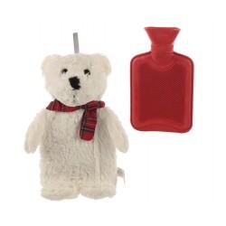 Wärmflasche Teddy 1L Bettflasche Wärmeflasche Kuschelteddy Teddybär