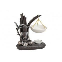 Duftlampe Buddha 19x8x20cm Raumduft Teelichthalter Budda Feng Shui