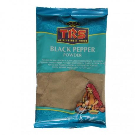 Schwarzer Pfeffer Pulver 100g gemahlene Pfefferkörner Black Pepper Powder