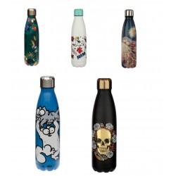 Thermosflasche 0,5L Doppelwandige Edelstahl Isolierflasche bis 12h Trinkflasche Wasserflasche