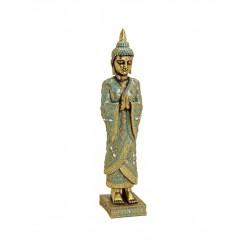 Buddha Figur 55cm stehender thaibuddha buddafigur feng shui budda Gold elegant