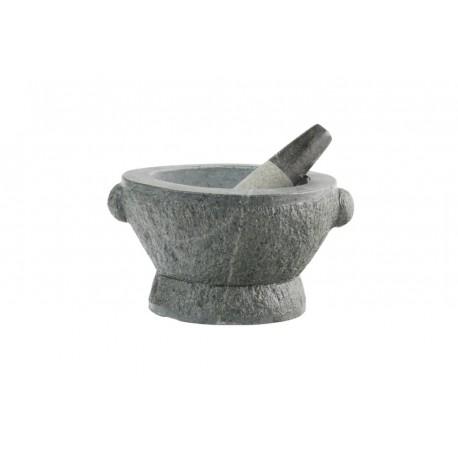 XXL Granit Mörser + Stößel 21kg massiv steinmörser Ø27cm aus einem Naturstein