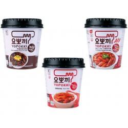 Topokki Yopokki Rice Cake Korea Jjajang  Spicy Sweet Instant Snack 120g Becher