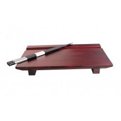 Geta mit Essstäbchen 24x15cm Brettchen für Sushi Servierbrettchen Holzbrettchen