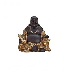 Buddha Figur 30cm buddafigur feng shui Chinesisher Glücksbuddha budda Happy Mönch