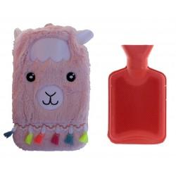Wärmflasche Lama 1L Bettflasche Kuscheltier Wärmeflaschenbezug Kuschellama
