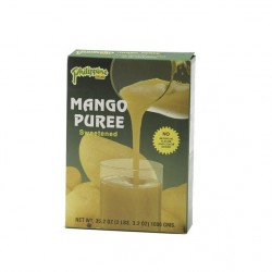 Mango Püree 1kg gesüßt Fruchtmark Mangopüree Puree Natur Mangomark Eis Juice Drink