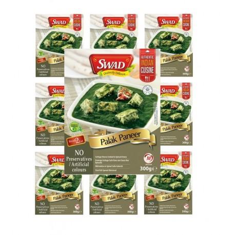 10x Palak Paneer 300g original Indien Fertiggericht Hüttenkäse mit Spinat