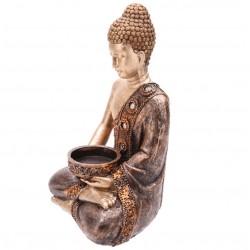 Thai Buddha Figur 18cm Statue Teelichthalter Budda Feng Shui Buddhismus Thailand Indien