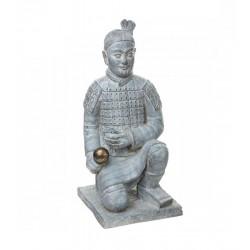 Samurai XL Statue 76cm Terakotta Armee Kämpfer Fighter Japan China Innen / Außen