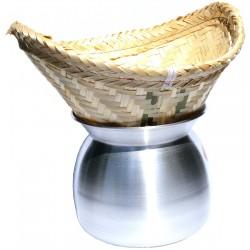 gusseisenwok keramik wokpfanne laos top zum dampfgaren keramikpfanne. Black Bedroom Furniture Sets. Home Design Ideas