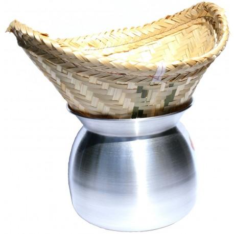 Laos Topf zum Dampfgaren v Reis traditioneller Reisdämpfer bambuskorb reiskocher