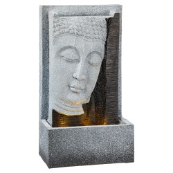 Zimmerbrunnen Ganesha XL mit LED Licht 70cm hoch Tischbrunnen Wasserspiel Buddha Luftbefeuchter