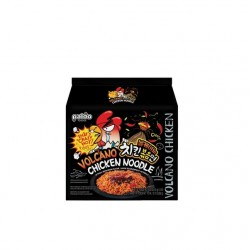 16x Hähnchen Nudeln sehr scharf a140g Instantnudeln Korea Volcano Chicken Noodle Nudelsuppen Fertiggericht Tütensuppe