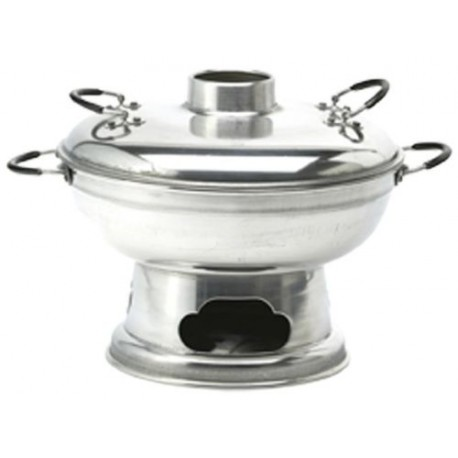 Feuertopf Mongolentopf Fondue aus Aluminium Ø ca 25cm asiatisches Fondue hot pot
