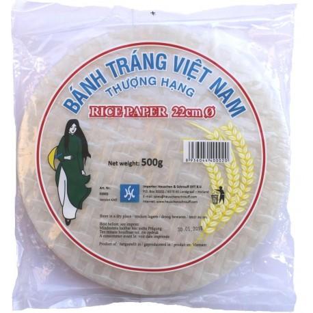 Reispapier für Frühlingsrollen orientalische Speisen rice paper rund Ø 22cm