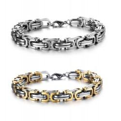 Armband Edelstahl oder Edelstahl/gold  Designer herrenarmkette edel & individuell 711