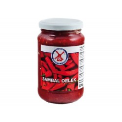 Sambal Oelek, sehr scharfe Paste aus Chilischoten hot Chilli spicy chili olek