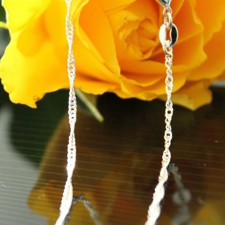 massive 925 SilberKette Länge nach Wahl Singapur Halskette Sterlingsilber gedrehte Kette