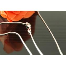 Silbrkette Schlangenkette - Länge nach Wahl -  mit Schmuckbeutel,Halskette Sterlingsilber