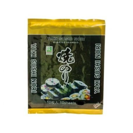 Yaki Sushi Nori Algen 25g 10 Blätter Sushiblätter Seetang geröstet algenblätter