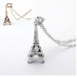 Eiffelturm Strass Anhänger (ca. 3,3cm x 1,0cm) + Kette (ca. 43cm)  Frankreich eifelturm