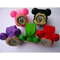 Maus Kinderuhr 7 Farben aus Silikon - Armbanduhr, Lernuhr Kinder