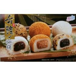 15 japanische Reiskuchen Mochi MIX Sesam/Erdnuss/Adzuki 450g Nachtisch Dessert