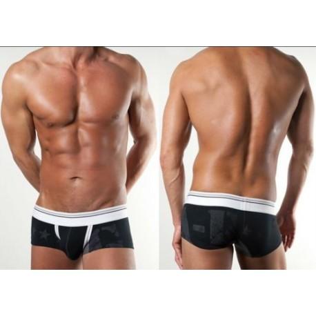sexy Herren Hipster Short Boxershorts - 3 Farben in 3 Größen zur Wahl - Boxershorts, Slip
