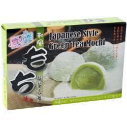 japanischer Reiskuchen Grün-Tee Mochi Spezialität Nachtisch Dessert grüner Tee