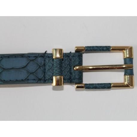 Damengürtel Kroko-Design & vergoldeter Schnalle Ledergürtel 2,3cm breit 5 Farben