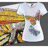 T-Shirt Schmetterlinge mit Strass + Pailletten Designer Mode tops Fashion SMLXL